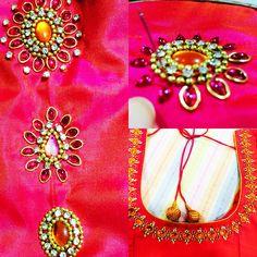 South Indian aari work blouse  Lakshoni's design