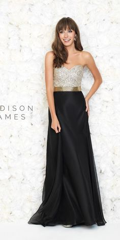 Strapless Evening Dress by Madison James