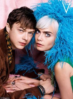 Cara, 24, and Dane, 31, posed for a 1960s inspired shoot shot by designer Karl Lagerfeld for the upcoming summer issue of V magazine.