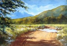 South African landscape by Irene Dyer signed