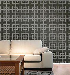 Fusion Allover Stencil  See more Geometric/Allover Stencils: http://www.cuttingedgestencils.com/wall-stencils-geometric-stencils.html  #geometric #allover #stencils