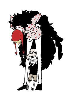 Tall Corazon - Trafalgar D. Water Law and Donquixote Rocinante (Corazon) (Corasan, Cora-san) One Piece