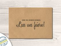 52 Einladungskarten Kommt feiern Postkarte