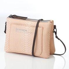 Mini bag imitation cuir peau de reptile femme Bensimon