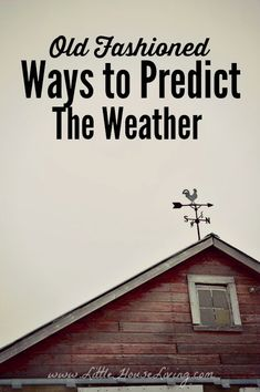Old Fashioned Ways to Predict the Weather. Some great tips here on watching the skies and the nature around you. Who needs a weatherman??