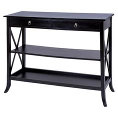I pinned this Suri Console Table from the Bold Black, Bright White event at Joss and Main!