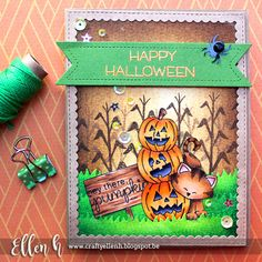 Halloween Kitty Card by Ellen Hax | Newton's Boo-tiful Night stamp set by Newton's Nook Designs #newtonsnook