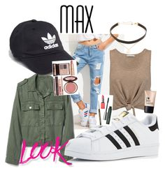 """""""Basic teenage outfit"""" by shelbysash on Polyvore featuring Alice + Olivia, adidas, Jennifer Zeuner, Clinique, Charlotte Russe, Charlotte Tilbury and NYX"""