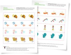 Free worksheets and activity tips to help children improve their observation and visual discrimination skills