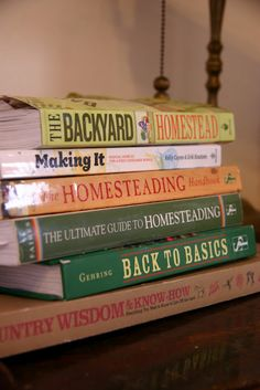 Great homesteading books