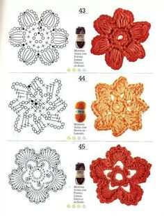 ❋ Crochet Flowers..  Designs, ideas, how to's and just great pictures.   Flowers