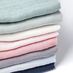 Filibabba Muslins in wonderful pastel colors  available now!