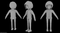 W.I.P Low Poly Character by Noval-Vengeance