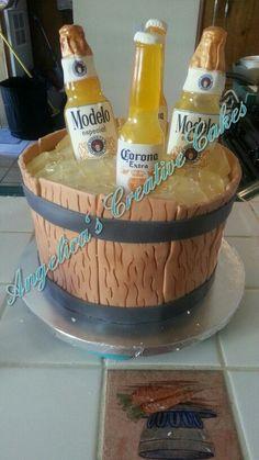 Beer Bucket Birthday Cake Budlight Beer Bucket Birthday