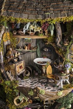 Cutest fairy tree house I've ever seen.     By Debbie and Mike Schramer.