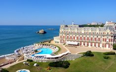 Prince William, Duchess Kate, Prince George and Princess Charlotte just stayed at the stunning Hotel du Palais in Biarritz, France, and it looks beyond gorgeous — see the pics! Hotels And Resorts, Best Hotels, Luxury Hotels, Hotel Biarritz, Biarritz France, Hotel Du Palais, National Geographic, Hotels In France, Destinations