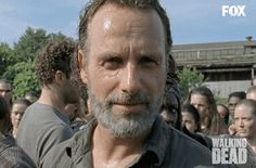 New party member! Tags: smile the walking dead smiling twd rick beard rick grimes andrew lincoln walking dead