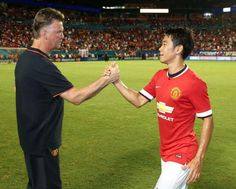 Van Gaal shook the hand of every player after the full-time whistle too