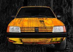 Peugeot 205 Art Car in yellow