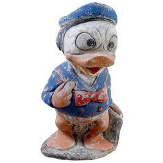 1stdibs | Whimsical French Vintage Garden Donald Duck