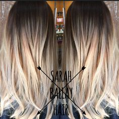 Hair by Sarah Ballay. Balayaged ombre. Cool brown melted into soft blonde.