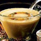 Holiday Peach-Nog Punch - A festive and delicious sparkling peach eggnog punch for the winter holidays.