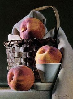 Alex Gnidziejko -- egg tempera emulsion and oil give his paintings depth and three-dimensional quality. Still Life Drawing, Painting Still Life, Still Life Art, Fruit Painting, Painting Abstract, Acrylic Paintings, Art Paintings, Still Life Photos, Realistic Paintings