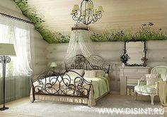 Зеленая детская в стиле прованс on Дизайн интерьера квартир, фото 2015-2016 | Дизайн-студия Ольги Кондратовой  http://www.ok-interiordesign.ru/wordpress/wp-content/gallery/provence-interiors/bedroom_141-s1.jpg