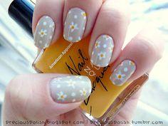 Love this cute mani by precious polish!