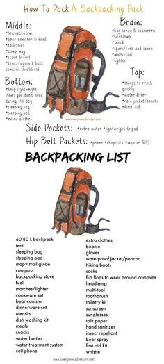 Backpacking could be a smart way to escape your mundane for some days (or (or weeks / months / years). But, it could be dangerous if you don't know what you're doing.These beginner backpacking tips… Hiking Tips, Camping And Hiking, Camping Survival, Survival Skills, Camping Gear, Survival Backpack, Winter Camping, Survival Tips, Camping Foods