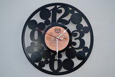 vinyl record clock (artist is Foghat) on Wanelo
