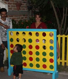 Giant connect four! I want to do this when I have kids. #fun #kids #connectfour #DIY #games #building