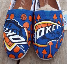 These are the bomb! OKC Thunder Toms. Kevin Durant Russell Westbrook.