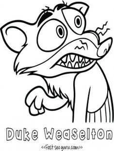 Dibujos de Zootopia para colorear  personajes zootopia colorear