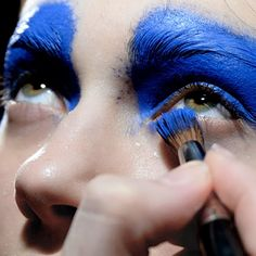 M.A.C makeup at Thomas Tait backstage fall/winter 2014!