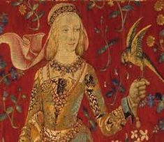 The Lady and the Unicorn (detail) The lady is said to be Blanche of Lancaster, wife of John of Gaunt John Of Gaunt, Medieval Tapestry, Medieval Art, Medieval Crafts, Unicorn Tapestries, Richard Ii, Creation Art, Plantagenet, Art Moderne