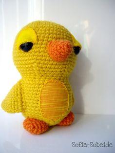 Yellow amigurumi crochet bird soft toy / by sofiasobeide on Etsy