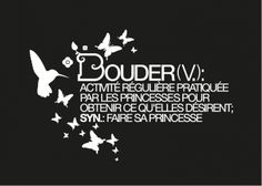 """Carte postale """"Bouder (v.): activité régulière pratiquée par les princesses..."""" Royaume MELAZIC"""