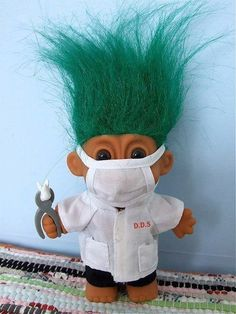Did you have one of these as a child.... I did, not a dentist.... It had purple hair!!