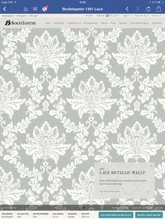 Boråstapeter Lace metallic wallpaper Artikel: 1361 459kr
