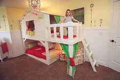 DIY Kura Playhouse Bed with a Deck Area