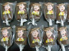 Paletitas de chocolate personalizadas Woody toy story