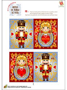 Russian Christmas for children. Click on link for free template. http://www.hugolescargot.com/decoupages/decoupage-du-noel-russe.html