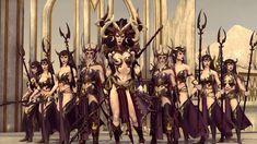 Total War: Warhammer II by Ukruser on DeviantArt Warhammer Dark Elves, Warhammer Art, Warhammer Fantasy, Fantasy Battle, Dark Fantasy, Fantasy Characters, Female Characters, Fantasy Art Women, Total War