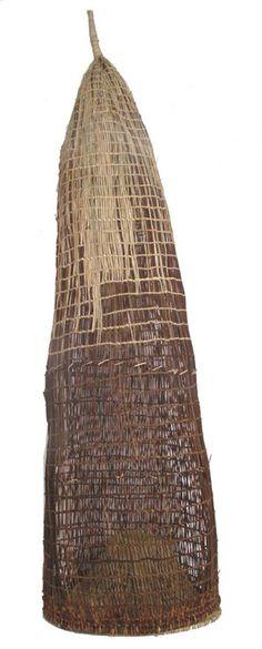 Lorna Jin-gubbarrangunyja, Fish trap, jungle vine, sedge grass and pandanus.