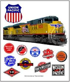 UNION-PACIFIC-HERITAGE-RAILROAD-TIN-SIGN-Train-Wall-Art