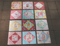 Adorable baby quilt by lovely little handmades.  Sweet Life Collection by Atsuko Matsuyama fabrics.