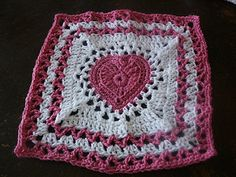 Center Heart Square  pattern by Ginger Badger