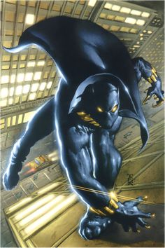 On this day in in the pages of Fantastic Four Stan Lee and Jack Kirby introduced the world to Wakanda and its king, T'Challa, the Black Panther. Black Panther Marvel, Black Panther Comic Books, Black Panther Storm, Black Panther Character, Black Comics, Black Panther Party, Marvel Comics, Marvel E Dc, Marvel Comic Books