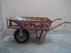 Hand  Painted Wheel Barrow